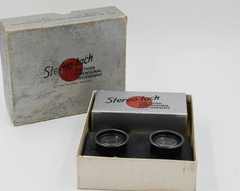 Stereo-Tach No. 100 Stereo Camera Attachment With Print Viewer
