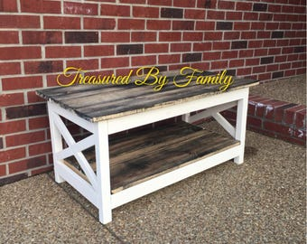 Farmhouse Style Primitive Coffee Table