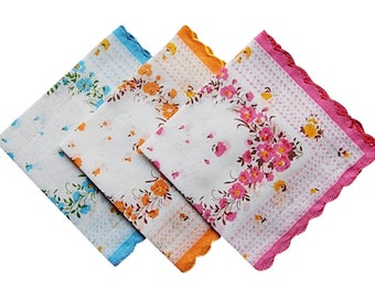 For your tears of joy wedding handkerchiefs lot of 10 - Hankies set various colors - New, Vintage look favors.