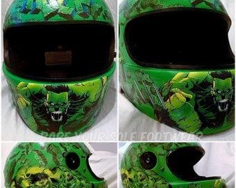 Send Me Your Helmet and I'll Make it Marvelous! Marvel and DC Comics. Hulk, Iron Man, Avengers, Captain America, Batman, Harley Quinn.