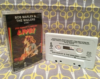 Live! by Bob Marley and the Wailers Cassette Tape reggae ska