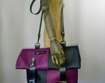 Cool in the mix of leather - handbag