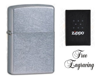 Personalized Street Chrome Zippo Lighter Hand Engraved Custom