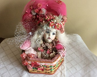 Very Unique One Of A Kind Mixed Media Doll