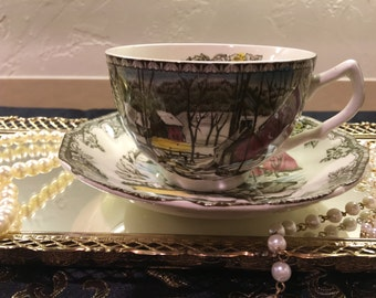 Made in England Johnson Bros Teacup and Saucer