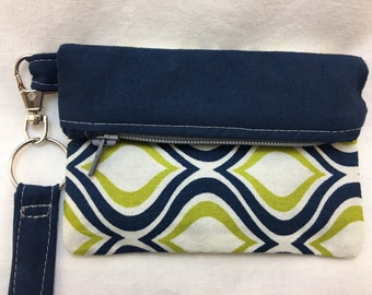 Mini Clutch Wristlet, Fold-Over Design