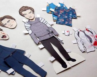Leonardo DiCaprio Romeo Paper Doll // romeo & juliet, leo, dress up doll, DIY