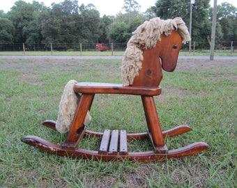 rocking horse wood rocking horse small rocking horse suit doll
