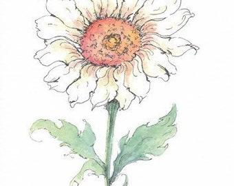 Daisy Watercolor Giclee Print