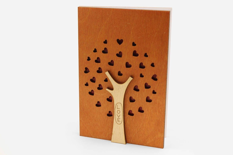 Wood Gift Ideas 5th Wedding Anniversary: 5th Wedding Anniversary Card Wood Anniversary Gift 5th