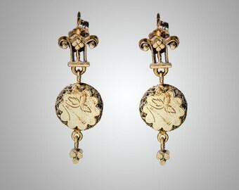 14k Retro Victorian post earrings