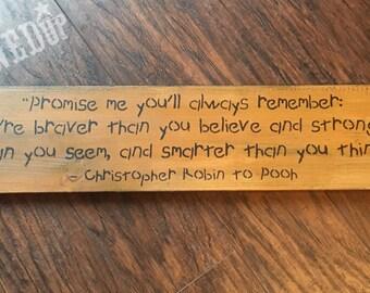 Christopher Robin wood sign