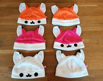 Cute fox fleece hat