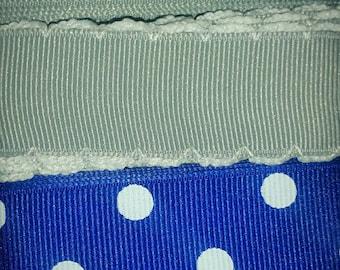 Blue and Gray Ribbon Mix