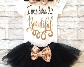 Baby Girl Clothes, I Was Born This Beautiful Bodysuit, Born Beautiful Bodysuits, Born Beautiful Shirts, Baby Girl Baby Shower Gift