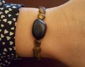 Blue Goldstone and Tigerseye bracelet