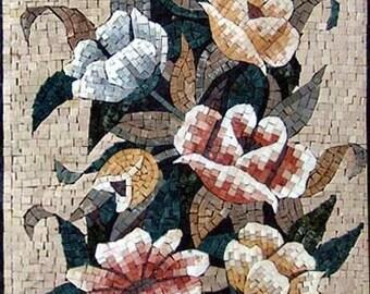 Oriental Mosaic Floral Bouquet