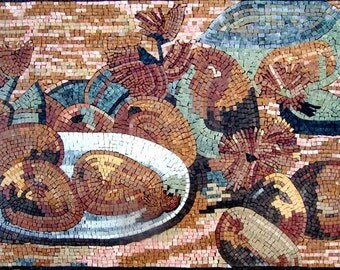 Kitchen Backsplash - Impressionism Fruits