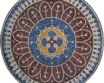 Round Hand-cut Marble Mosaic - Sunnyside