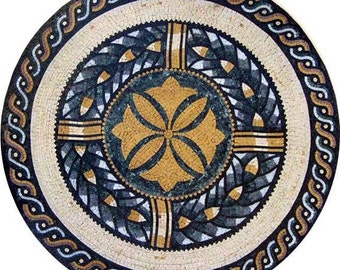 Floral Roman Mosaic Art - Lilia