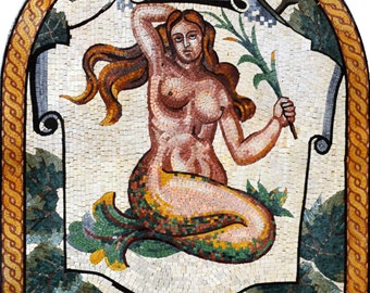 Sirenetta Mosaic Arched Art