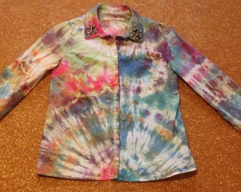 Women's Size Small Tie Dye Blouse