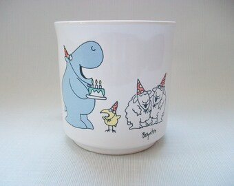Vintage Birthday Mug, Boynton Hippo Birdie Two Ewes Cup, Vintage Birthday Party Coffee Mug, Vintage Boynton Mug, Vintage Birthday Gift