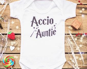 Accio Auntie Auntie Shirt Auntie Baby Clothes Auntie Shirt  Auntie Bodysuit Favorite Auntie Auntie's Favorite Auntie Bodysuit Potter Baby