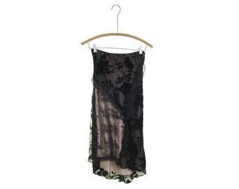 MONKEYWEAR asymmetrical skirt lace skirt sheer velvet skirt silk velvet juniors clothing 90s skirt black skirt black lace skirt junior skirt