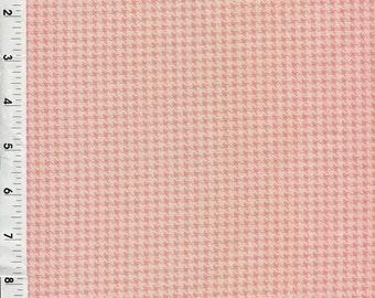 """Free Spirit """"Designer Essentials"""" Houndstooth Coral Pink Fabric"""