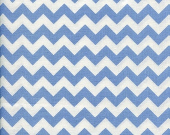 Chevron Zig Zag Light Blue Fabric