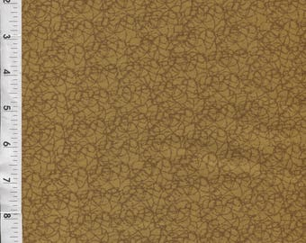 "Free Spirit ""Designer Twine"" Gold Tonal Fabric"