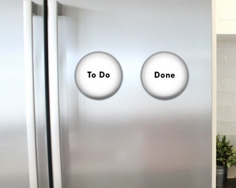 To Do and Done Refrigerator Magnets - Chore Magnets - Family Organization - Command Center - Family Chores -.Family Note Board - Appointment