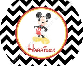 Mickey Mouse plate or bowl - Personalized Mickey Mouse melamine plate or bowl- Personalized plate-  Mickey Mouse bowl