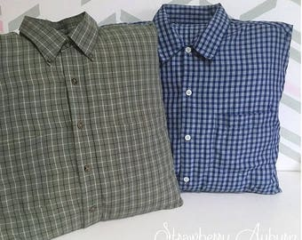 Button Down Shirt with Collar Memory Pillow Covers * Comes with Pillow form inside! * - Men's Shirt Pillows - Tshirt pillow