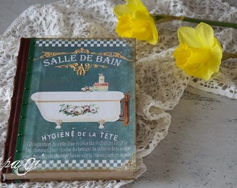 Vintage diary, journal, notebook, vintage style, vintage - Shabby Chic diary, notebook, blank books