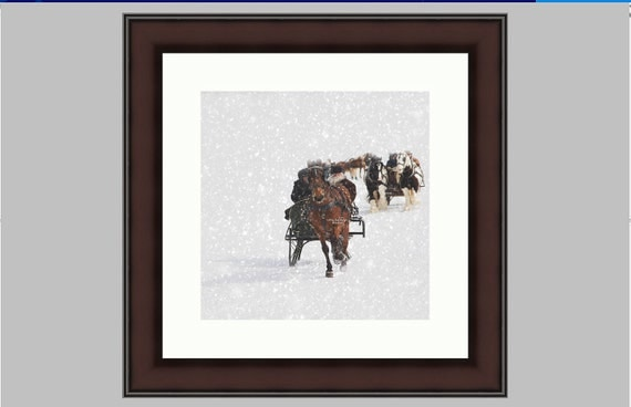 Sleigh Ride Framed Fine Art Print Limited Edition