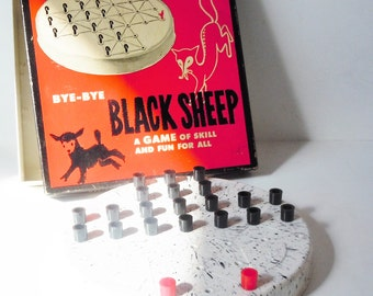 Bye Bye Black Sheep / Avoid the Red Foxes in the game of chess-like strategy / Early Molded Plastic