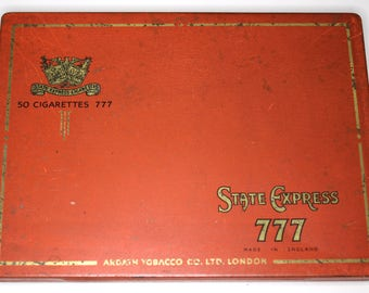 State Express 777 Flat 50 Cigarette Tin