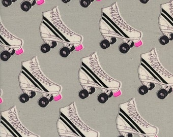 Cotton Fabric by the yard - Modern quilt fabric - Cotton and Steel Fabric - Roller Rink - Fat Quarter - Modern Fabric by the Yard