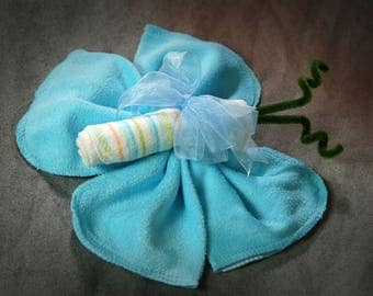 Baby Shower Favor Baby shower Washcloth Butterfly made with full size washcloths Baby Shower Decor Baby Shower Gift