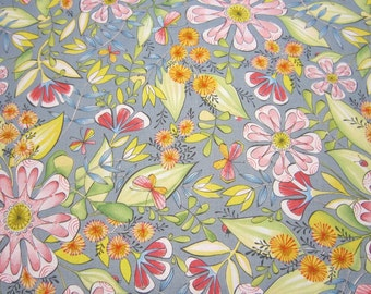 Cori Dantini Garden Girls Floral  Cotton Fabric by Blend