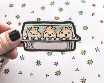 Cute Food Sticker, Dumplings, Dim Sum Laptop Sticker, Car Sticker, Bumper Sticker, Vinyl Sticker, Cute Food, Kawaii, Funny Food