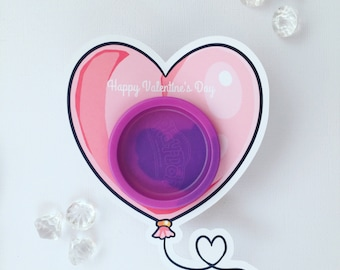 Valentine's Day  playdoh cards