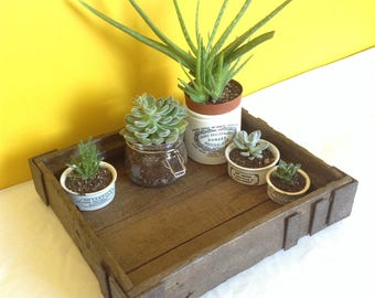Antique handmade rustic decorative tray with metal deatailing, iron work. Vintage wooden frame. Wooden tray, display tray, rustic, farmhouse