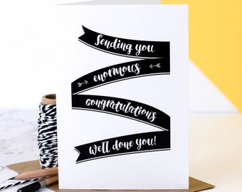 Congratulations Card; Well Done Card; Personalised Congratulations Card; Well Done You Card; GC514