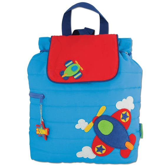 Toddler Stephen Joseph Quilted Airplane Backpack, Children's Aiplane Backpack, Kids Backpack, Back to School, FREE PERSONALIZATION