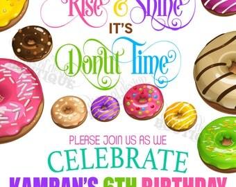 KAMRAN - Donut Invitation; Doughnut Invitation; Printable Sweets Invitation