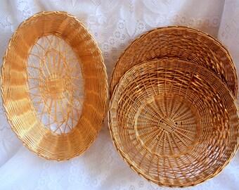 Gold Wire Basket, Vintage Woven Metal Basket, Woven Wire Basket,  Gold Metal Basket, Unbreakable Basket