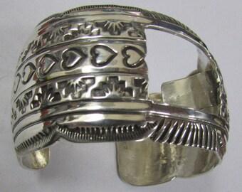 Navajo Sterling Silver Watch Cuff Bracelet